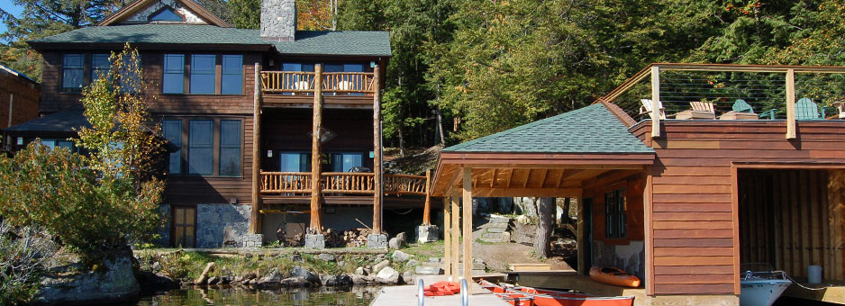 Camp kidura traditional family vacation home and lake for Lake house upstate ny